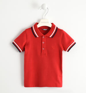 SHORT SLEEVED POLO RED