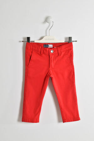 Versatile cotton twill trousers RED