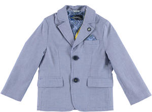 100% cotton jacket with Oxford pochette BLUE