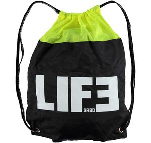 Gym bag with mesh insert YELLOW