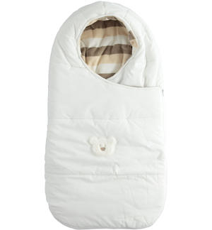 Sleeping bag lined in warm striped chenille