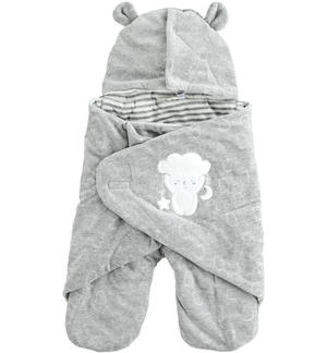 Devoré chenille Baby sleeping bag GREY