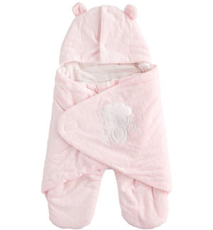 Devoré chenille Baby sleeping bag PINK
