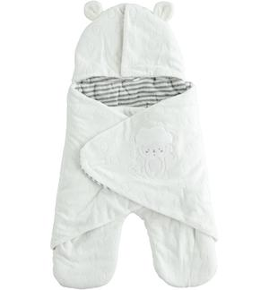 Devoré chenille Baby sleeping bag CREAM