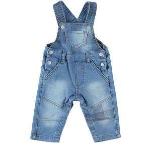KNITTED DUNGAREE BLUE