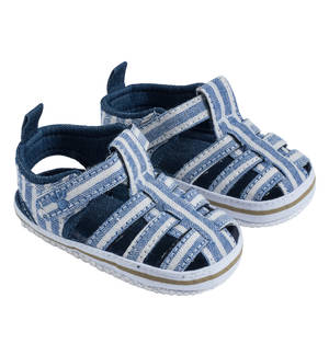 Fabric sandals for baby boys BLUE