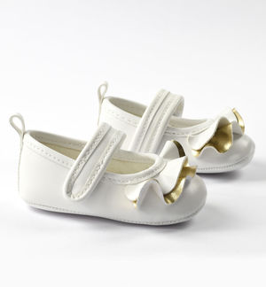 Newborn girl shoes in eco-leather ballerina model