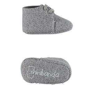 Booties in a herringbone type jersey fabric  GREY