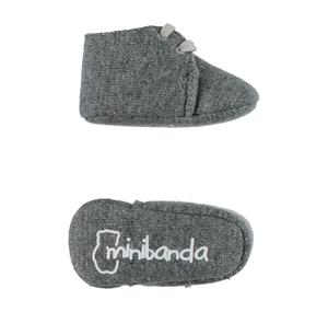 Wool blend tricot booties  GREY