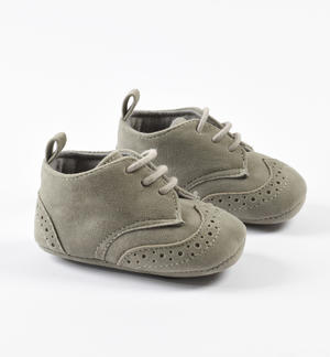 Faux leather newborn shoes for ceremony GREY