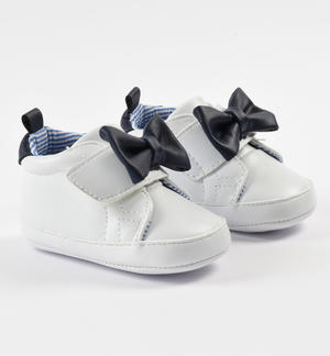 Faux leather newborn baby sneakers shoes with Velcro closure