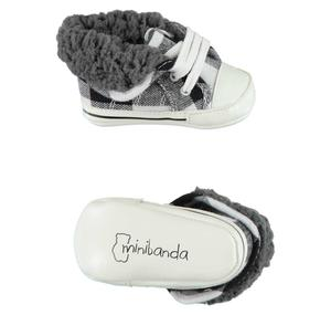 Casual shoes with faux fur lining BLACK