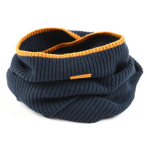 Ribbed ring scarf BLUE