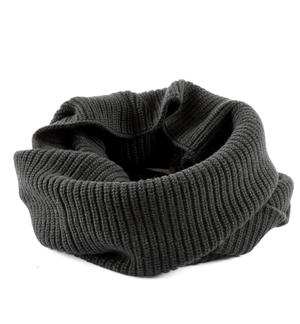 Ring scarf in ribbed tricot BLACK