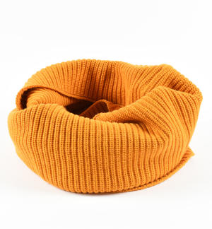 Ring scarf in ribbed tricot ORANGE