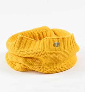 Ring scarf made in tricot  YELLOW