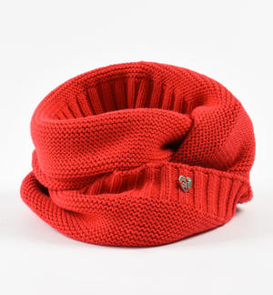 Ring scarf made in tricot  RED