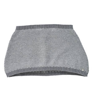 Moss stitch sparkling knitted shawl GREY