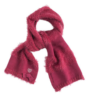 Fur effect scarf  RED