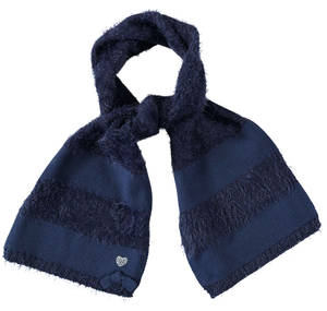 Fur effect scarf  BLUE