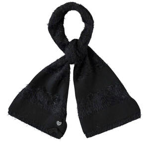 Fur effect scarf  BLACK