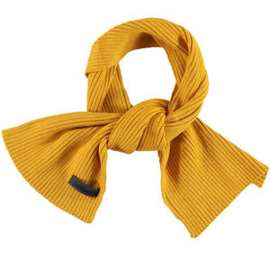 Cotton blend tricot scarf  YELLOW