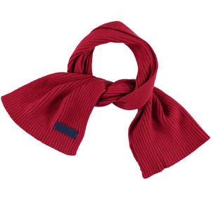 Cotton blend tricot scarf  RED