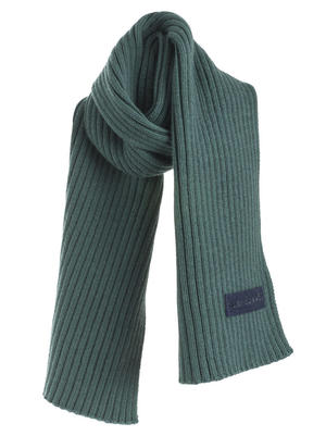 Cotton blend tricot scarf  GREEN