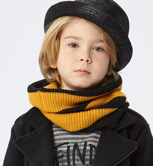 Striped neck warmer scarf   YELLOW