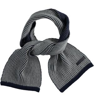 Ribbed knit scarf for boy BLUE