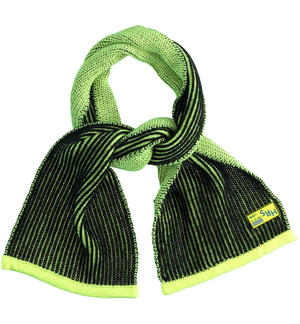 Ribbed knit scarf for boy GREEN