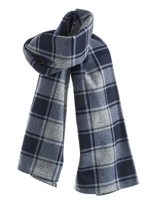 Checked scarf GREY