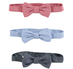 Set consisting of three solid coloured bow ties with straps RED