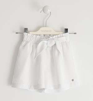 Shorts with «Bermuda» fit WHITE
