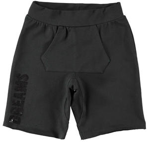 Shorts bambina in cotone stretch NERO