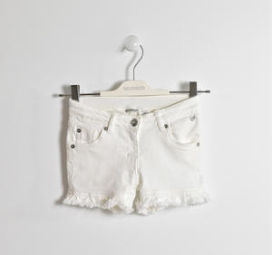 Shorts in twill stretch BIANCO