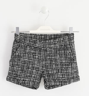 """Chanel"" effect fabric shorts BLACK"