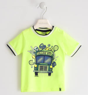 "Nice ""college bus"" t-shirt GREEN"