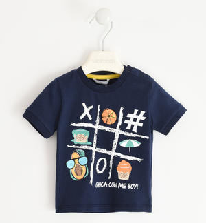 "Nice ""Play with me"" t-shirt 100% cotton BLUE"