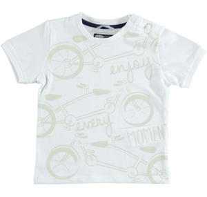 Fun and quirky 100% cotton jersey t-shirt WHITE