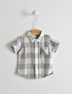 Trendy and stylish baby boy shirt in a viscose blend GREY