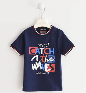 "100% cotton ""Catch the waves"" t-shirt BLUE"