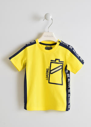 100% cotton T-shirt with battery YELLOW
