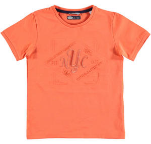 Cotton round necked t-shirt ORANGE