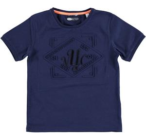 Cotton round necked t-shirt BLUE