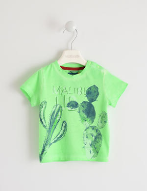 Fluo T-shirt with cactus GREEN