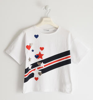 T-shirt with hearts and stars