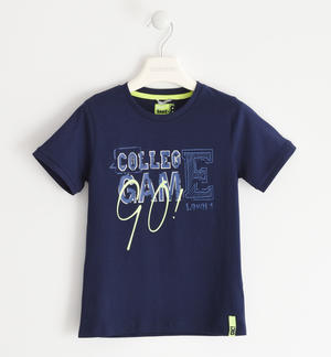 """College Game"" cotton t-shirt BLUE"