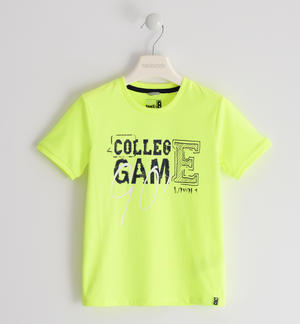 """College Game"" cotton t-shirt GREEN"