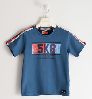 100% cotton jersey t-shirt BLUE